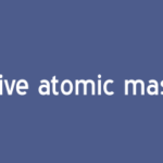 What is Relative atomic mass definition
