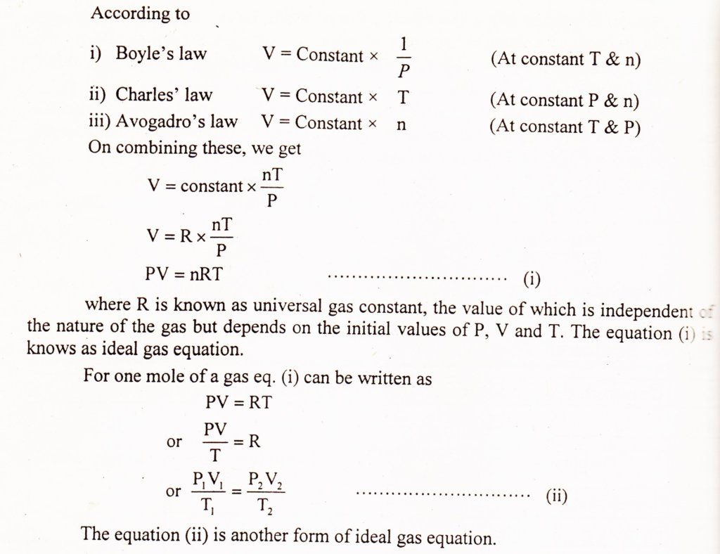 ideal gas law derivation