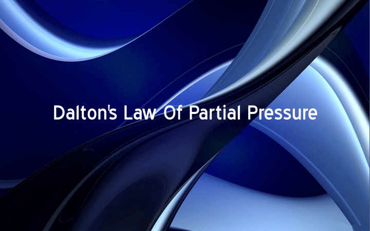 Dalton Law Of Partial Pressure