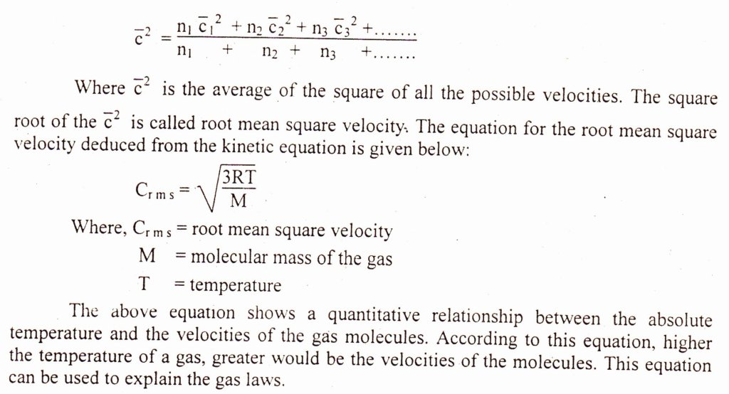kinetic equation mean square velocity