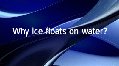ice floats on water
