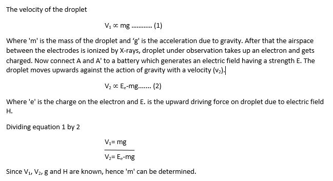 Milikans equation